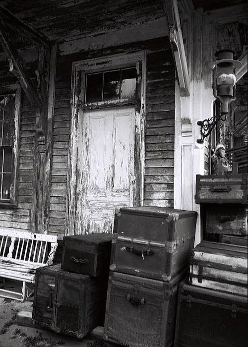 Black And White Greeting Card featuring the photograph Abandoned2 by AnnaJanessa PhotoArt