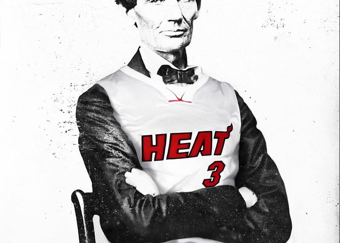 Abe Lincoln In A Heat Jersey Greeting Cards