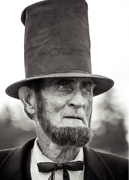 Civil War Greeting Card featuring the photograph Abe by Rainbeau Decker