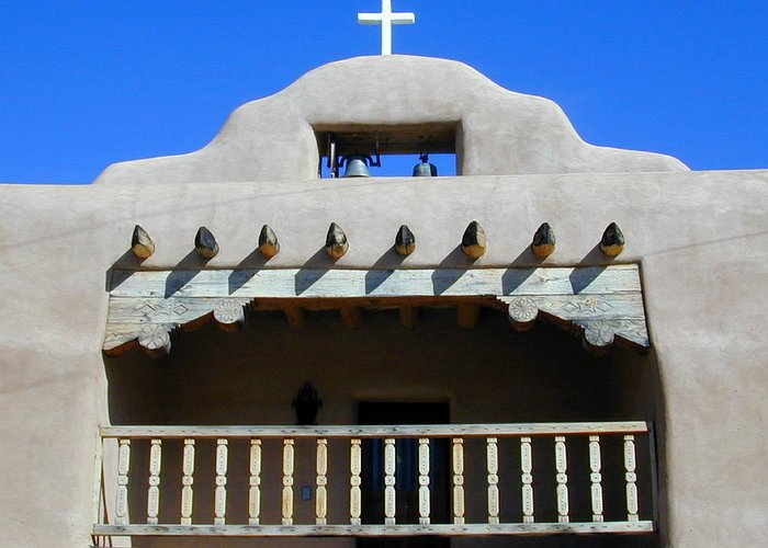 Church Greeting Card featuring the photograph Abiquiu Church Number 2 by Joseph R Luciano