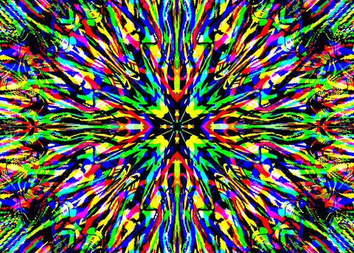 Colors Greeting Card featuring the digital art Ablivia by Blind Ape Art