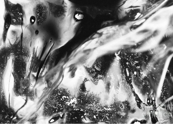 Black & White Abstract Photographs Greeting Card featuring the photograph Abolished by Jacques Pierre Niemandt