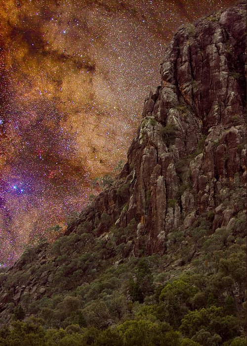 Milky Way Greeting Card featuring the photograph Aboriginal Dreamtime by Charles Warren