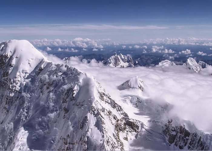 Above Denali Greeting Card featuring the photograph Above Denali by Chad Dutson