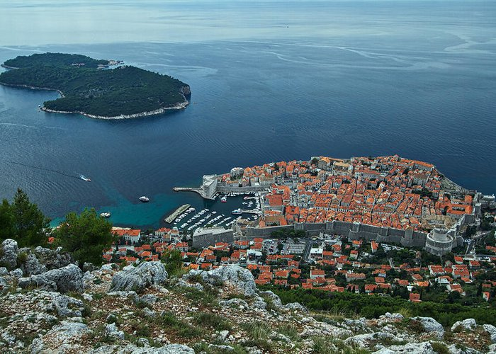 Dubrovnik Greeting Card featuring the photograph Above Dubrovnik - Croatia by Stuart Litoff