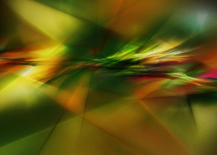 Digital Painting Greeting Card featuring the digital art Abstract 060210 by David Lane