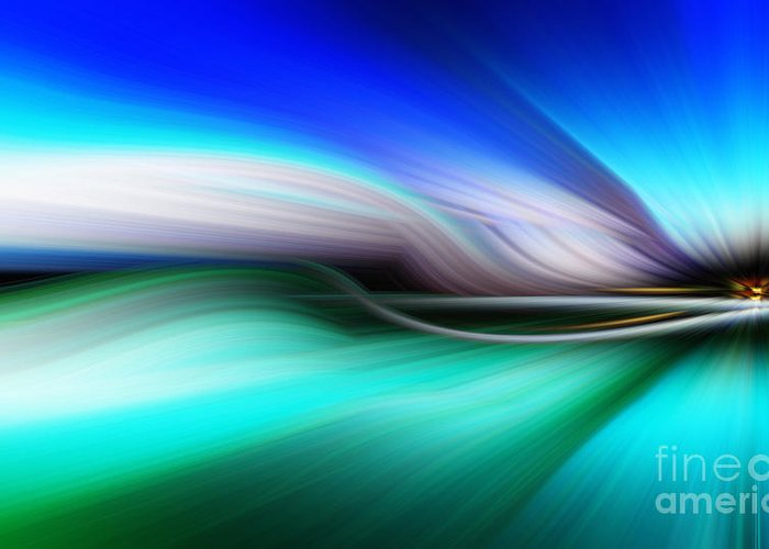 Art Greeting Card featuring the photograph Abstract 0902 M by Howard Roberts