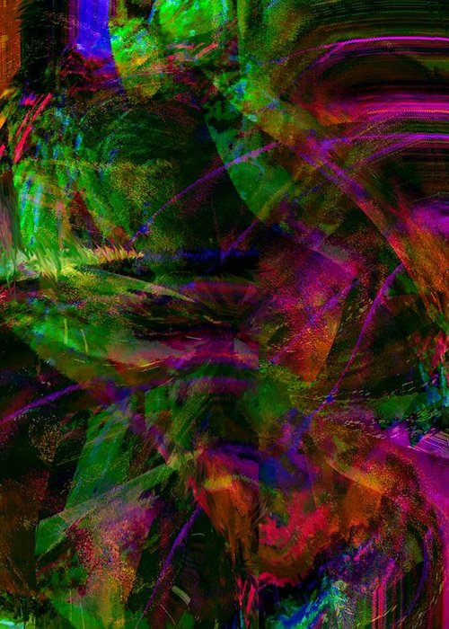 Digital Art Greeting Card featuring the digital art Abstract 11 by Kendall Eutemey