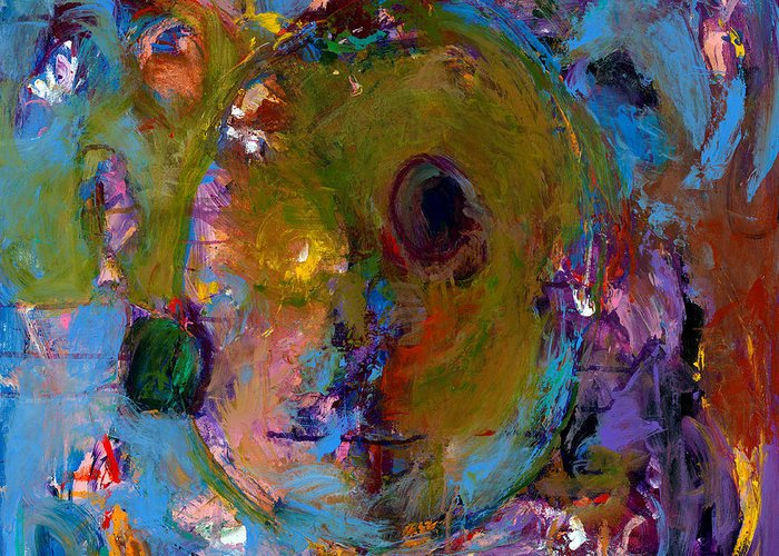 Abstract Expressionistic Artwork Greeting Card featuring the painting Abstract 233 by Johnathan Harris