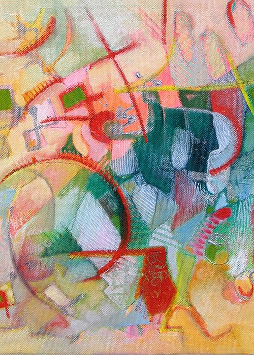 Abstract Artwork Greeting Card featuring the painting Abstract 3 by Susanne Clark