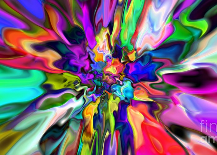 Abstract Greeting Card featuring the digital art Abstract 367 by Rolf Bertram
