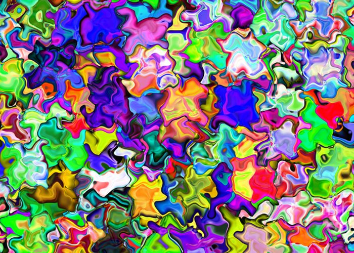 Abstract Greeting Card featuring the digital art Abstract 369 by Rolf Bertram