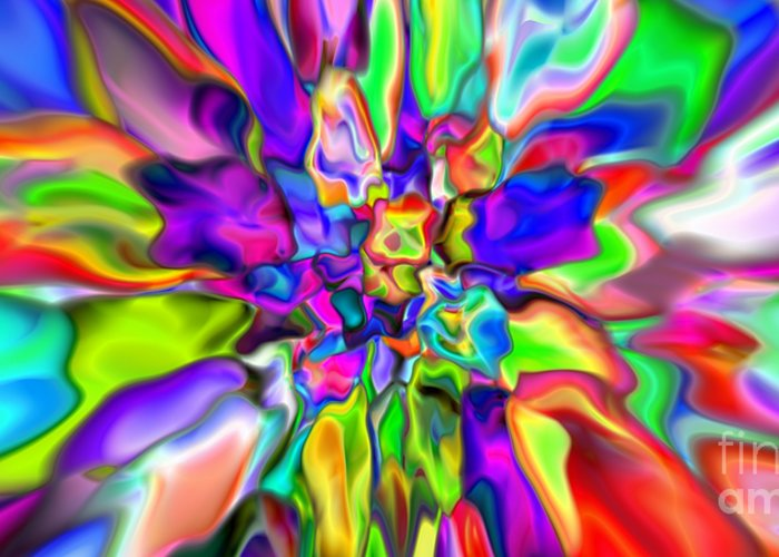 Abstract Greeting Card featuring the digital art Abstract 376 by Rolf Bertram