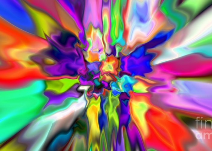 Abstract Greeting Card featuring the digital art Abstract 379 by Rolf Bertram