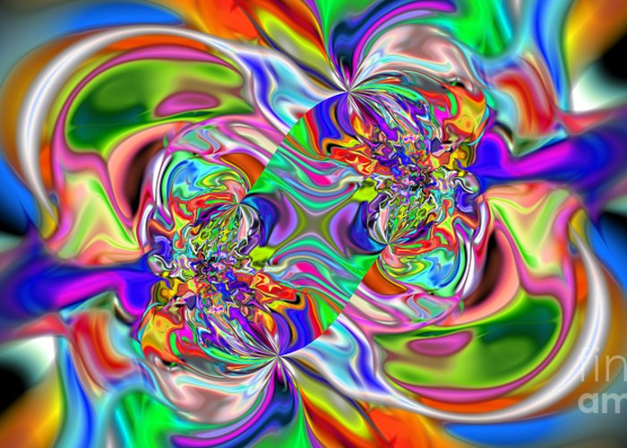 Color Flow Greeting Card featuring the digital art Abstract 389 by Rolf Bertram