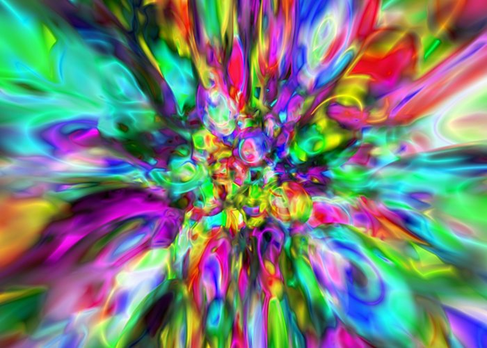 Abstract Greeting Card featuring the digital art Abstract 397 by Rolf Bertram