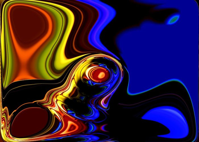 Abstract Greeting Card featuring the digital art Abstract 7-26-09 by David Lane