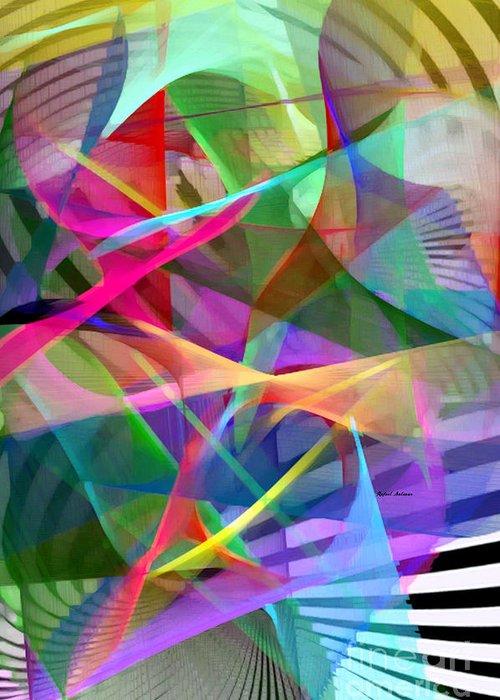 Rafael Salazar Greeting Card featuring the digital art Abstract 9488 by Rafael Salazar
