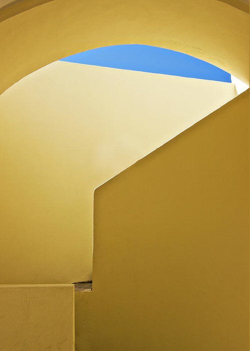 Architecture Greeting Card featuring the photograph Abstract Architecture In Yellow by Meirion Matthias