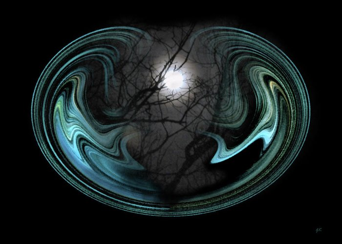 Abstract Art Greeting Card featuring the photograph Abstract Art - Full Moon by Gerlinde Keating - Galleria GK Keating Associates Inc