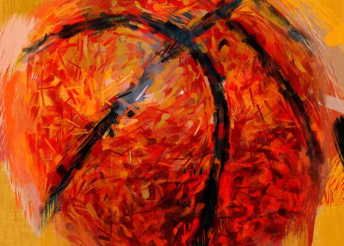 Basketball Greeting Card featuring the photograph Abstract Basketball by David G Paul