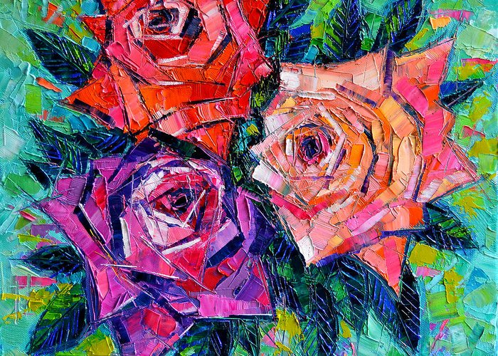 Bouquet Of Roses Greeting Cards