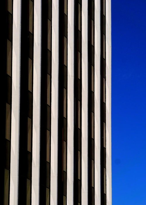 Blue Greeting Card featuring the photograph Abstract Building 2011 by Guntis Lauzums
