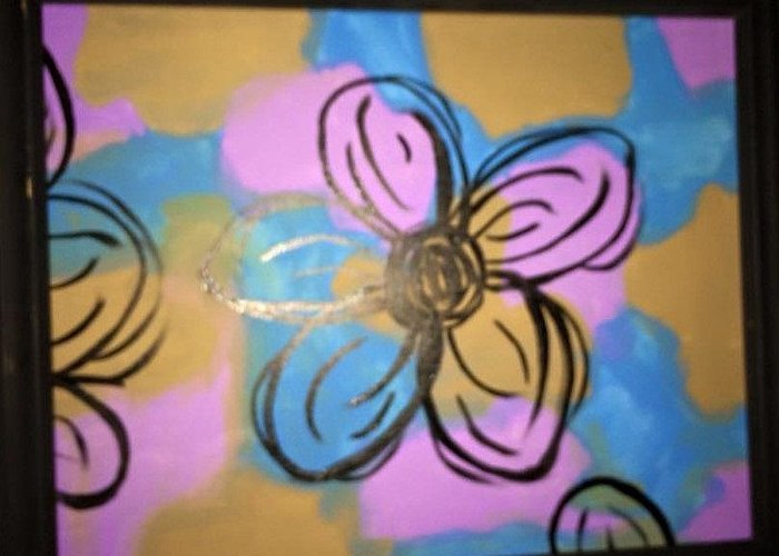 Daisies Greeting Card featuring the painting Abstract Daisy by Sarah Campbell
