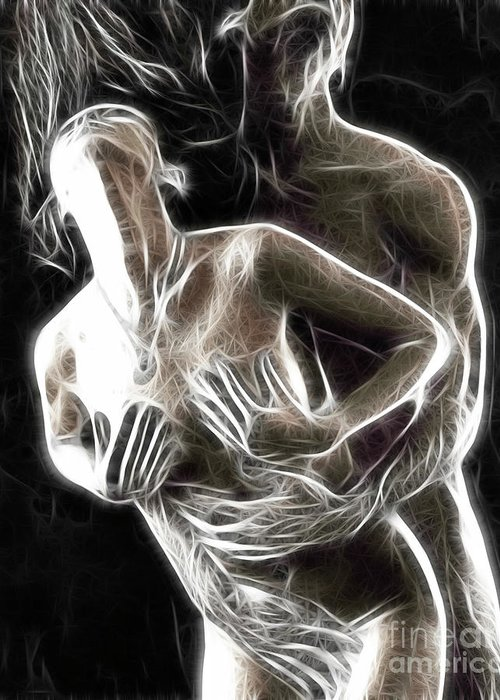 Sex Greeting Card featuring the photograph Abstract Digital Artwork Of A Couple Making Love by Oleksiy Maksymenko