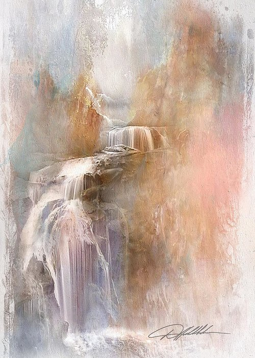 Art Greeting Card featuring the painting Abstract Falls by Danny Hahlbohm