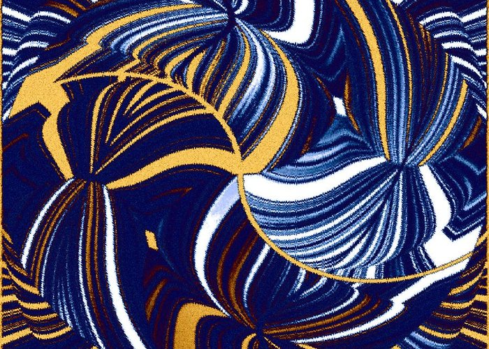 Abstract Greeting Card featuring the digital art Abstract Fusion 279 by Will Borden