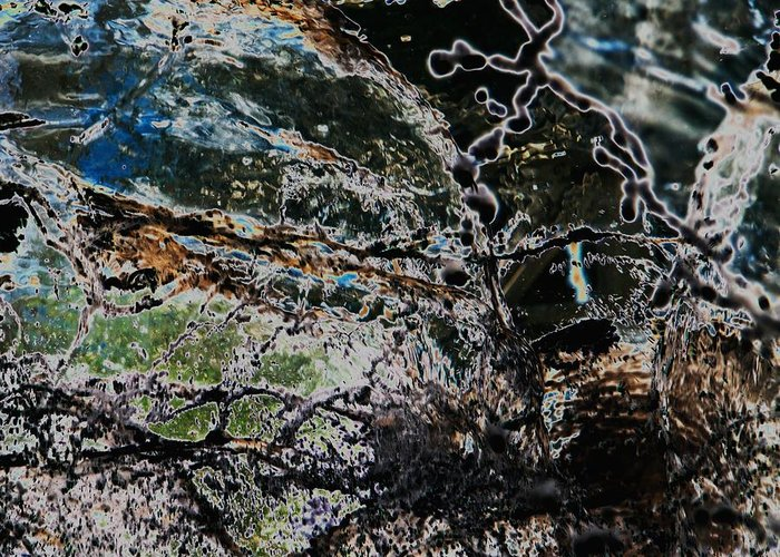 Water Greeting Card featuring the photograph Abstract by Hideaki Sakurai