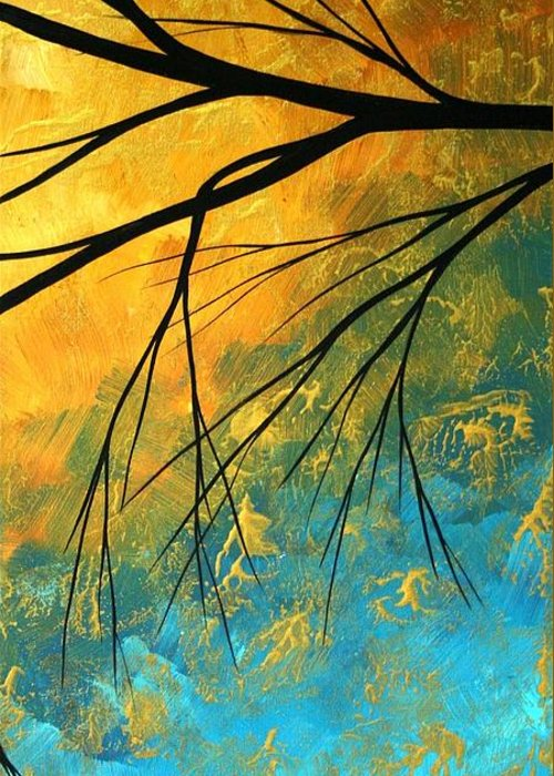 Abstract Greeting Card featuring the painting Abstract Landscape Art Passing Beauty 2 Of 5 by Megan Duncanson