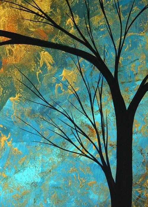 Abstract Greeting Card featuring the painting Abstract Landscape Art Passing Beauty 3 Of 5 by Megan Duncanson