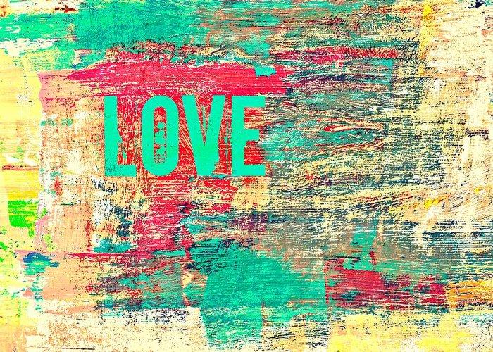Brandi Fitzgerald Greeting Card featuring the digital art Abstract Love V2 by Brandi Fitzgerald