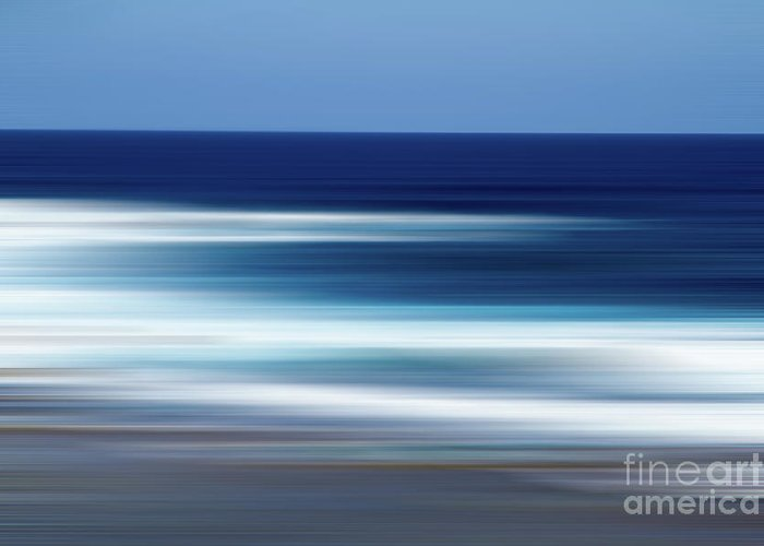 Ocean Greeting Card featuring the photograph Abstract Ocean Waves by Josephine Cleopahrt