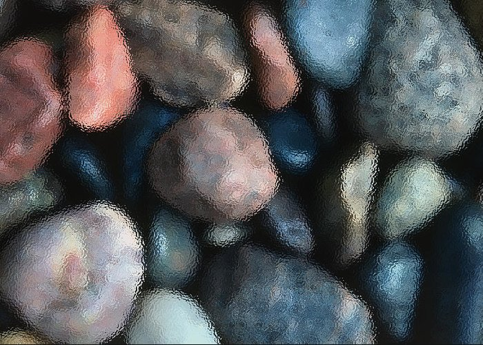 Rocks Greeting Card featuring the photograph Abstract Of River Rocks 1 by Steve Ohlsen