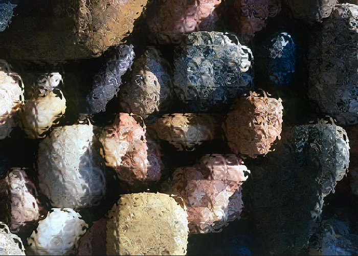 Rocks Greeting Card featuring the photograph Abstract Of River Rocks 2 by Steve Ohlsen