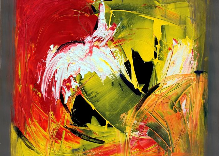 Abstarct Greeting Card featuring the painting Abstract Painting by Mario Zampedroni