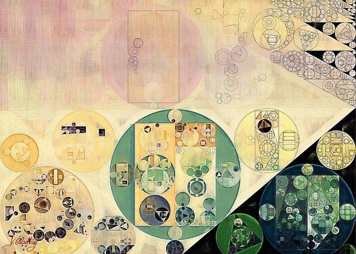 Motion Greeting Card featuring the digital art Abstract Painting - Xanadu by Vitaliy Gladkiy