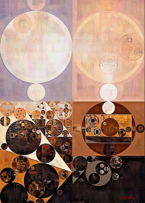 Constructionism Greeting Card featuring the digital art Abstract Painting - Zinnwaldite by Vitaliy Gladkiy