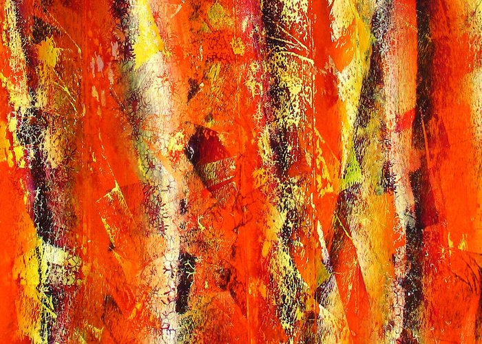 Greeting Card featuring the painting Abstract R-0176 by Jay Bonifield