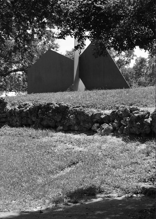 Black And White Greeting Card featuring the photograph Abstract Sculpture by Rob Hans
