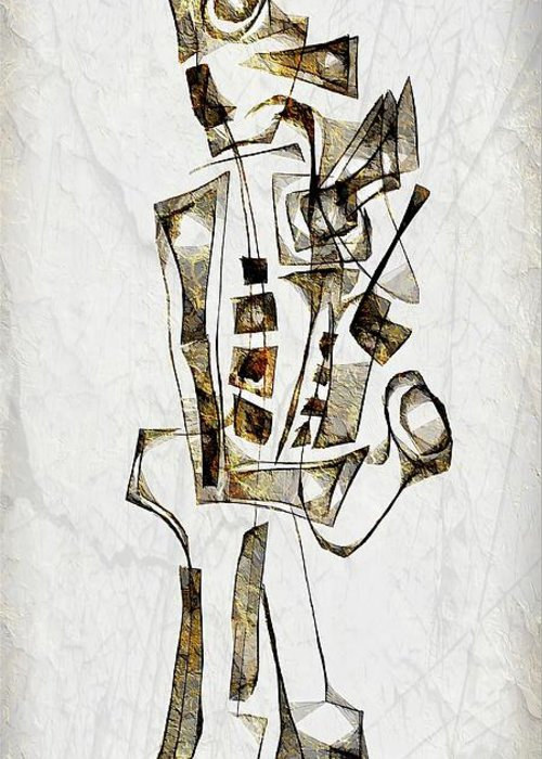 Abstraction Greeting Card featuring the digital art Abstraction 2844 by Marek Lutek
