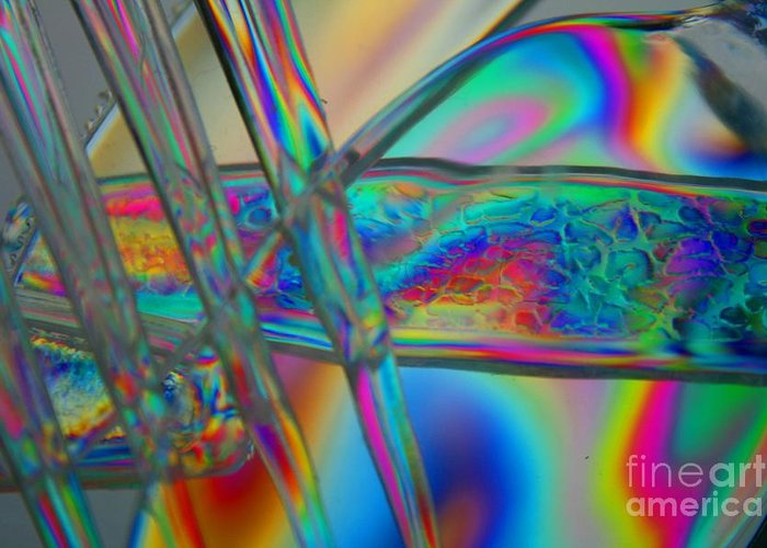 Abstract Greeting Card featuring the photograph Abstraction In Color 2 by Crystal Nederman