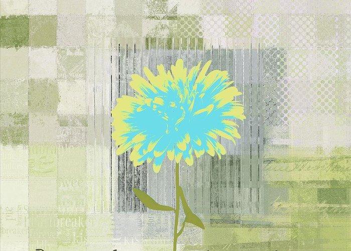 Blue Flowers Digital Art Greeting Cards