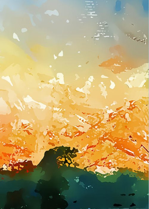 Abstract Greeting Card featuring the photograph Abstractograpia IIi by Gareth Davies