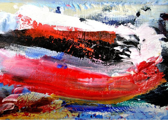 Abstract Greeting Card featuring the painting Abstraktes Bild 25 by Eckhard Besuden