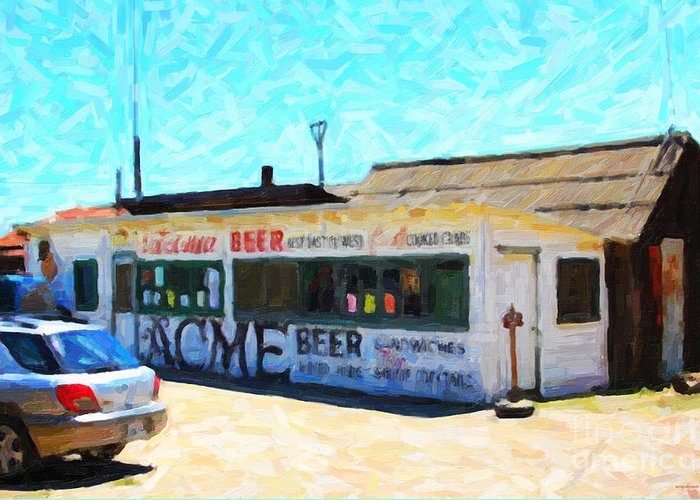 Shack Greeting Card featuring the photograph Acme Beer At The Old Lunch Shack At China Camp by Wingsdomain Art and Photography