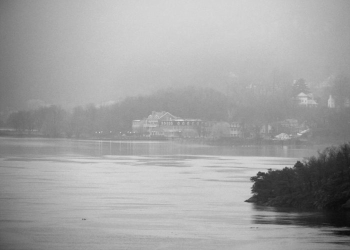 Landscape Greeting Card featuring the photograph Across The Hudson by Staci-Jill Burnley